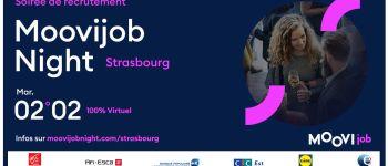 Moovijob Night Strasbourg - Soirée de recrutement virtuelle Strasbourg